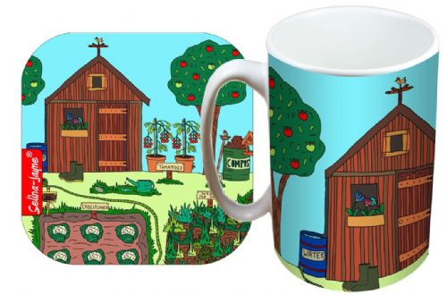 Selina-Jayne Allotment Limited Edition Designer Mug and Coaster Gift Set